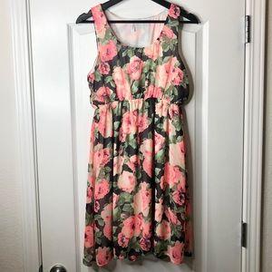Pinkblush Maternity Overlay Flower Print Dress